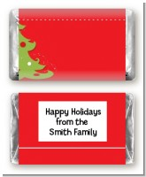 Christmas Tree - Personalized Christmas Mini Candy Bar Wrappers