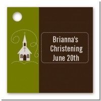 Church - Personalized Baptism / Christening Card Stock Favor Tags