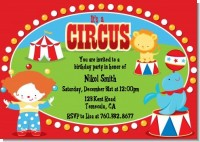 Circus - Birthday Party Invitations
