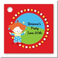 Circus Clown - Personalized Birthday Party Card Stock Favor Tags