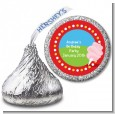 Circus Cotton Candy - Hershey Kiss Birthday Party Sticker Labels thumbnail