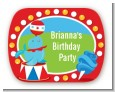 Circus - Personalized Birthday Party Rounded Corner Stickers thumbnail