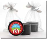 Circus Tent - Birthday Party Black Candle Tin Favors
