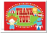 Circus - Birthday Party Thank You Cards