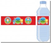 Circus - Personalized Birthday Party Water Bottle Labels
