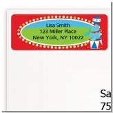 Circus - Birthday Party Return Address Labels