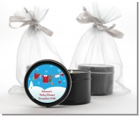 Clothesline Christmas - Baby Shower Black Candle Tin Favors