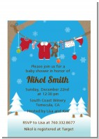 Clothesline Christmas - Baby Shower Petite Invitations