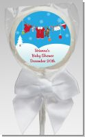 Clothesline Christmas - Personalized Baby Shower Lollipop Favors