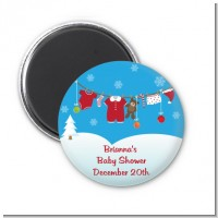 Clothesline Christmas - Personalized Baby Shower Magnet Favors