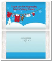 Clothesline Christmas - Personalized Popcorn Wrapper Baby Shower Favors