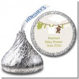 Clothesline It's A Baby - Hershey Kiss Baby Shower Sticker Labels