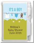 Clothesline It's A Boy - Baby Shower Personalized Notebook Favor