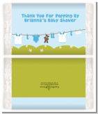 Clothesline It's A Boy - Personalized Popcorn Wrapper Baby Shower Favors