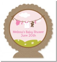 Clothesline It's A Girl - Personalized Baby Shower Centerpiece Stand