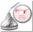 Clothesline It's A Girl - Hershey Kiss Baby Shower Sticker Labels thumbnail