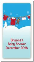 Clothesline Christmas - Custom Rectangle Baby Shower Sticker/Labels