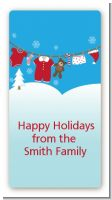 Clothesline Christmas - Custom Rectangle Christmas Sticker/Labels