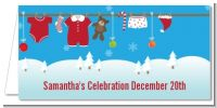 Clothesline Christmas - Personalized Baby Shower Place Cards