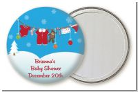 Clothesline Christmas - Personalized Baby Shower Pocket Mirror Favors