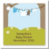 Clothesline It's A Boy - Personalized Baby Shower Card Stock Favor Tags
