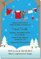 Clothesline Christmas - Baby Shower Invitations