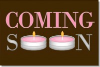 Personalized Birthday Party Square Candle Tins