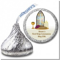 Communion Collage - Hershey Kiss Baptism / Christening Sticker Labels