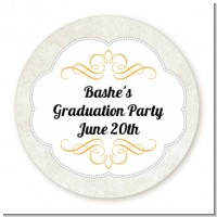 Con-Grad-ulations - Round Personalized Graduation Party Sticker Labels