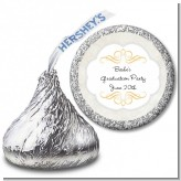 Con-Grad-ulations - Hershey Kiss Graduation Party Sticker Labels