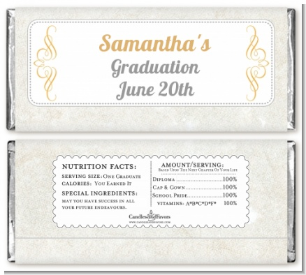Con-Grad-ulations - Personalized Graduation Party Candy Bar Wrappers