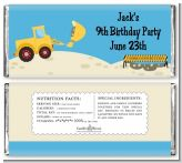 Construction Truck - Personalized Birthday Party Candy Bar Wrappers