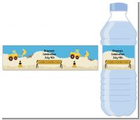 Construction Truck - Personalized Baby Shower Water Bottle Labels
