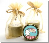 Cookie Exchange - Christmas Gold Tin Candle Favors