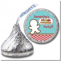 Cookie Exchange - Hershey Kiss Christmas Sticker Labels