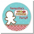 Cookie Exchange - Round Personalized Christmas Sticker Labels thumbnail