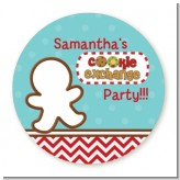 Cookie Exchange - Round Personalized Christmas Sticker Labels