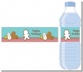 Cookie Exchange - Personalized Christmas Water Bottle Labels