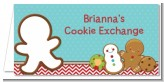 Cookie Exchange - Personalized Christmas Place Cards