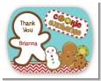 Cookie Exchange - Personalized Christmas Rounded Corner Stickers thumbnail