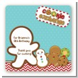 Cookie Exchange - Square Personalized Christmas Sticker Labels thumbnail