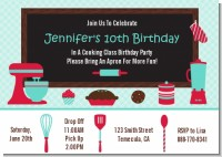 Cooking Class - Birthday Party Invitations