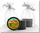 Country Boy On The Farm - Birthday Party Black Candle Tin Favors