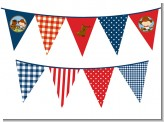 Little Cowboy - Baby Shower Themed Pennant Set