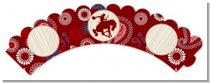 Cowboy Rider - Birthday Party Cupcake Wrappers
