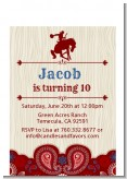 Cowboy Rider - Birthday Party Petite Invitations