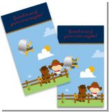 Little Cowboy - Baby Shower Scratch Off Game Tickets