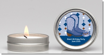Cowboy Western - Baby Shower Candle Favors