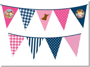 Little Cowgirl - Baby Shower Themed Pennant Set