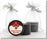 Cowgirl Rider - Birthday Party Black Candle Tin Favors